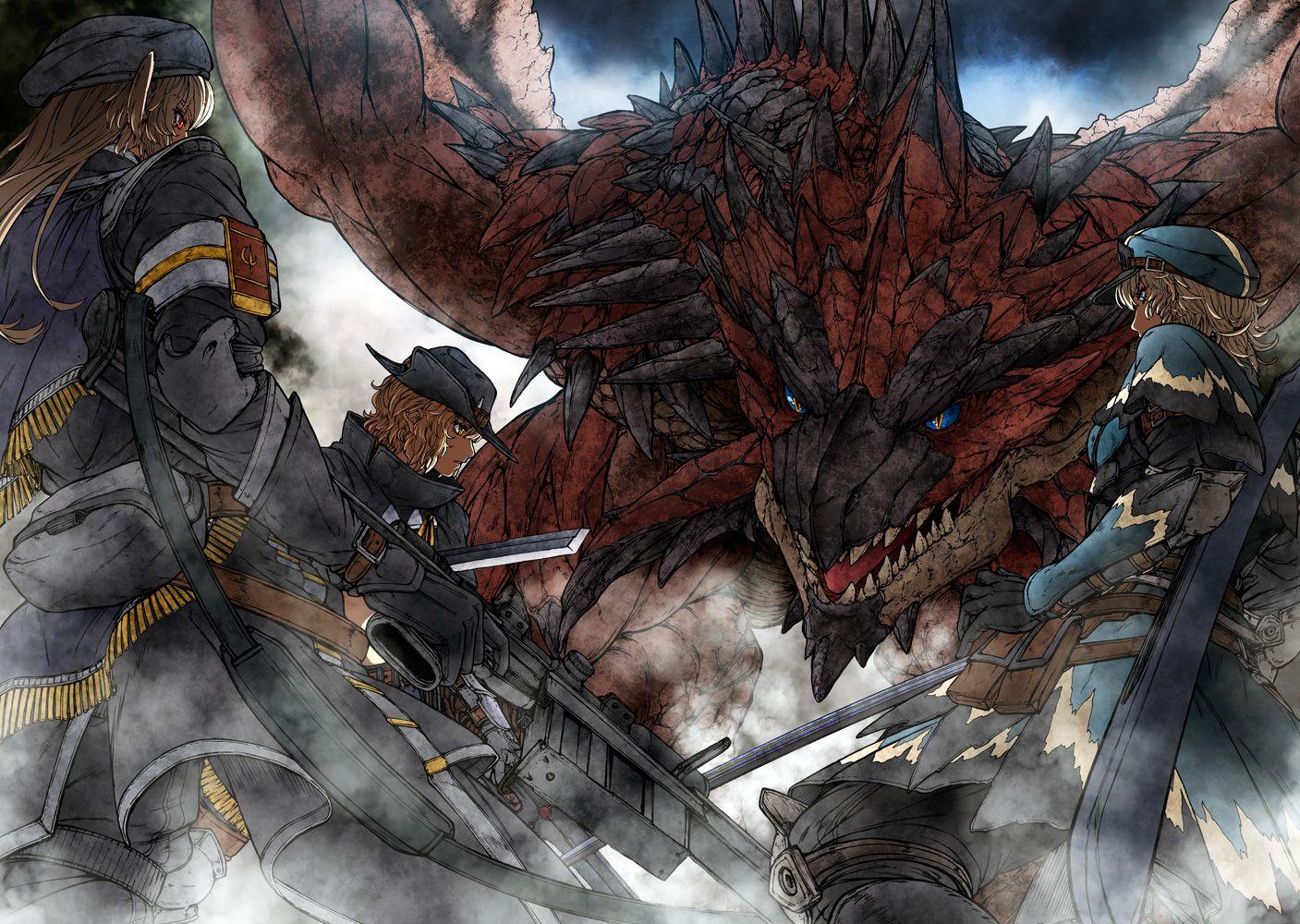 Another Monster Hunter Crossover Monster Hunter Monster Hunter Rathalos Monster Hunter Art