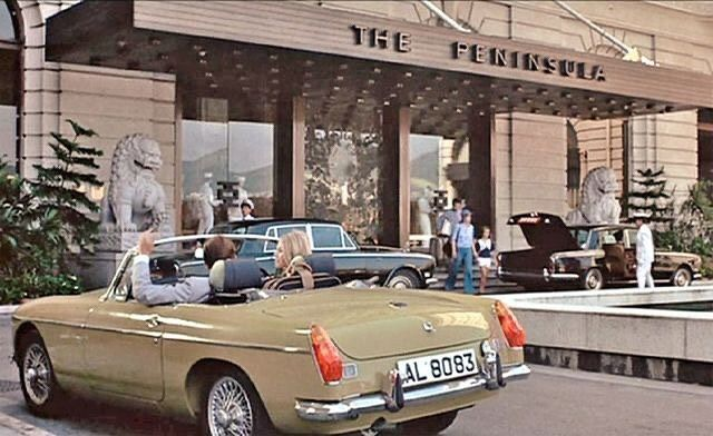 "Photo of Maren (Reni)'s Instagram profile post: ""Forgotten Bond cars: Stunning MGB Roadster in ""The man with the golden gun"" 1974 with my favorite Bond Roger Moore and the lovely Britt…"""
