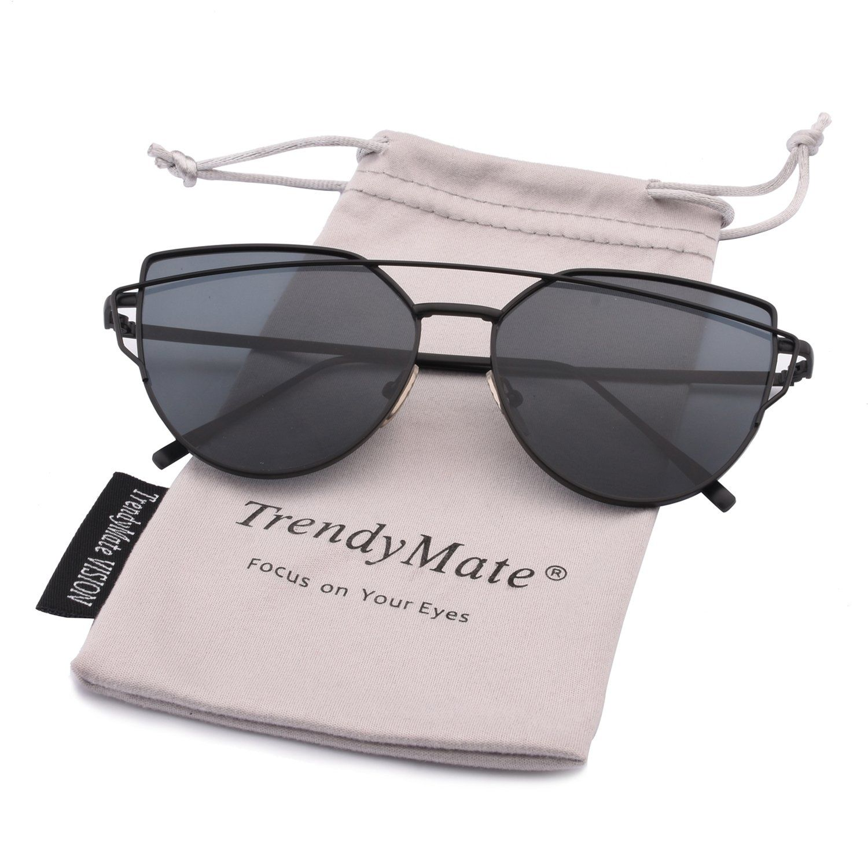 TrendyMateWomens Street Fashion Metal Twin Beam Flat