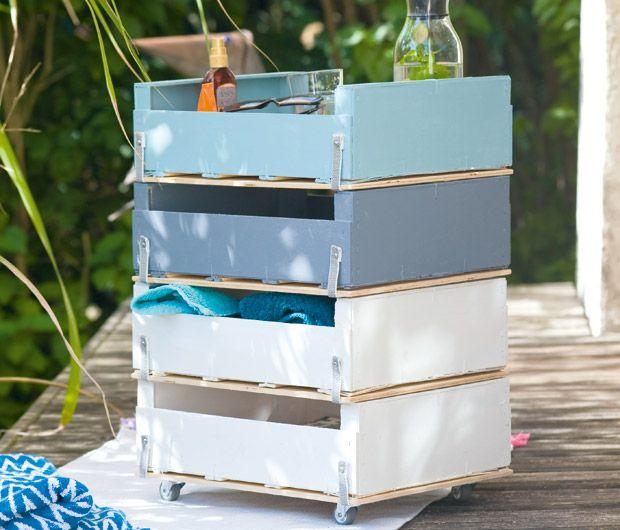 Upcycling  je crée un meuble de rangement avec des cagettes