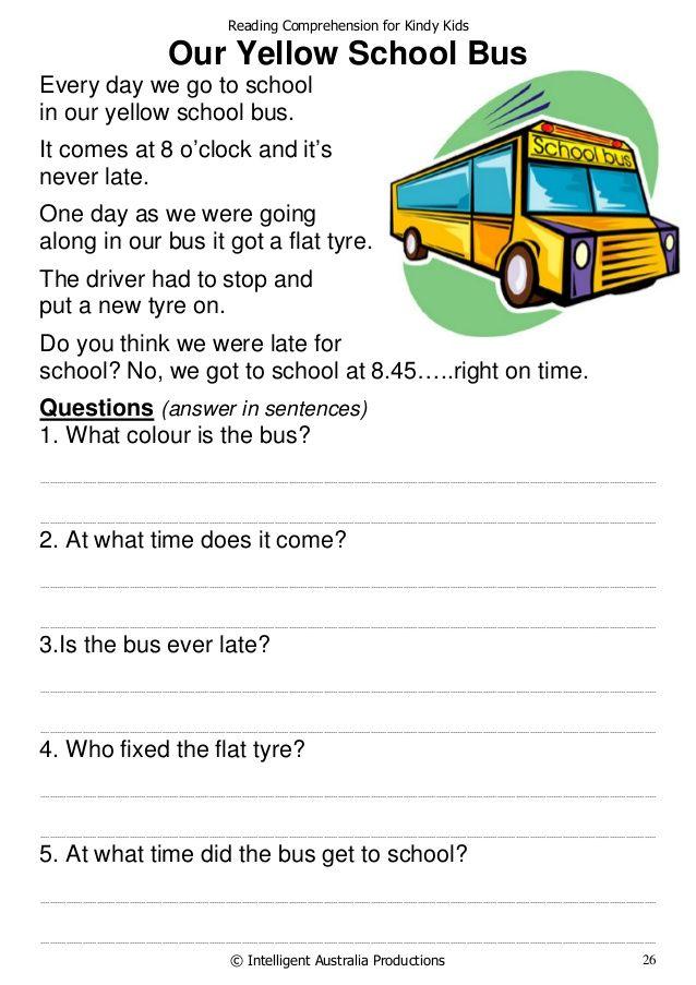 Reading Comprehension For Kids Online - Yourhelpfulelf