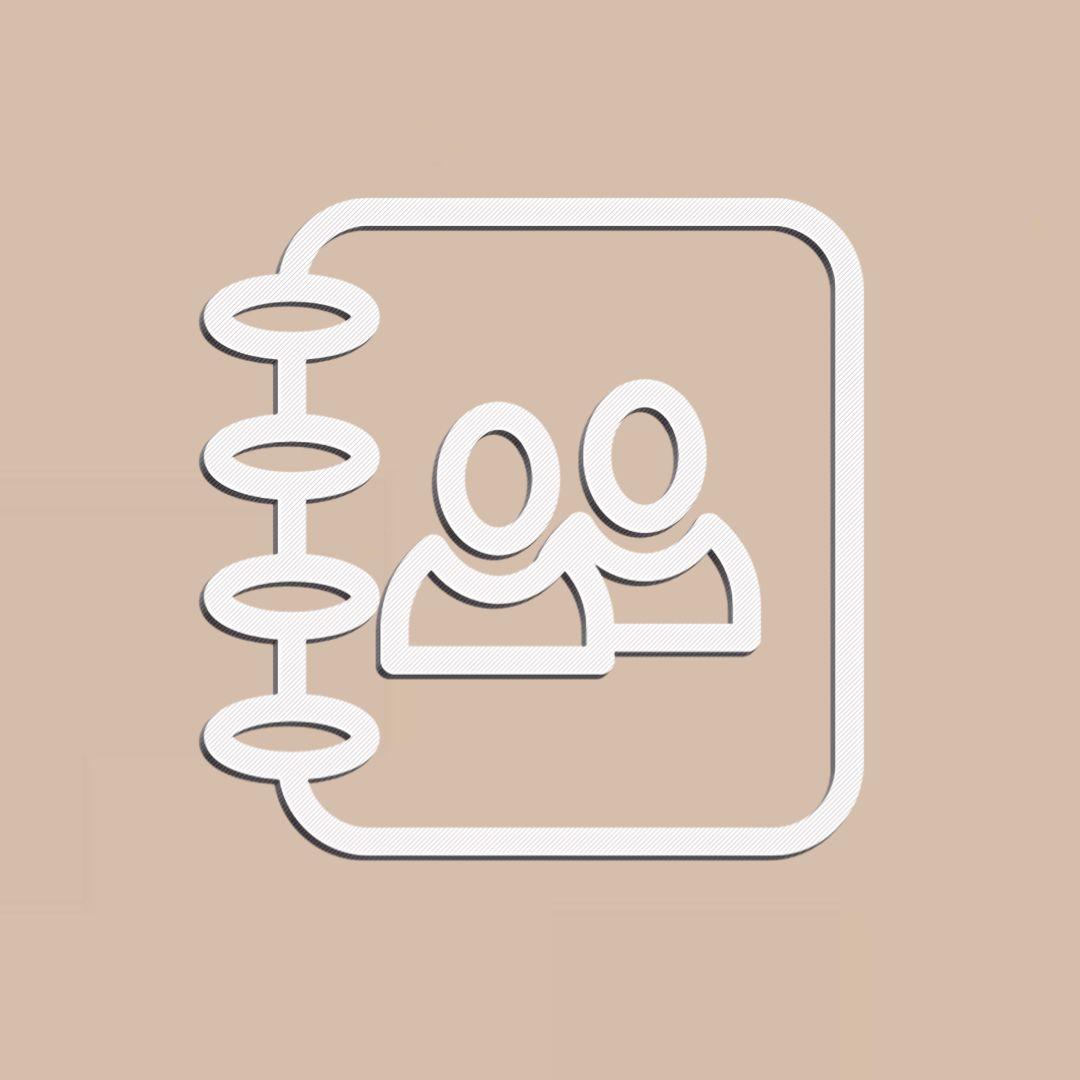 Contacts Icon White Beige Iphone Photo App Iphone Design Ios Icon