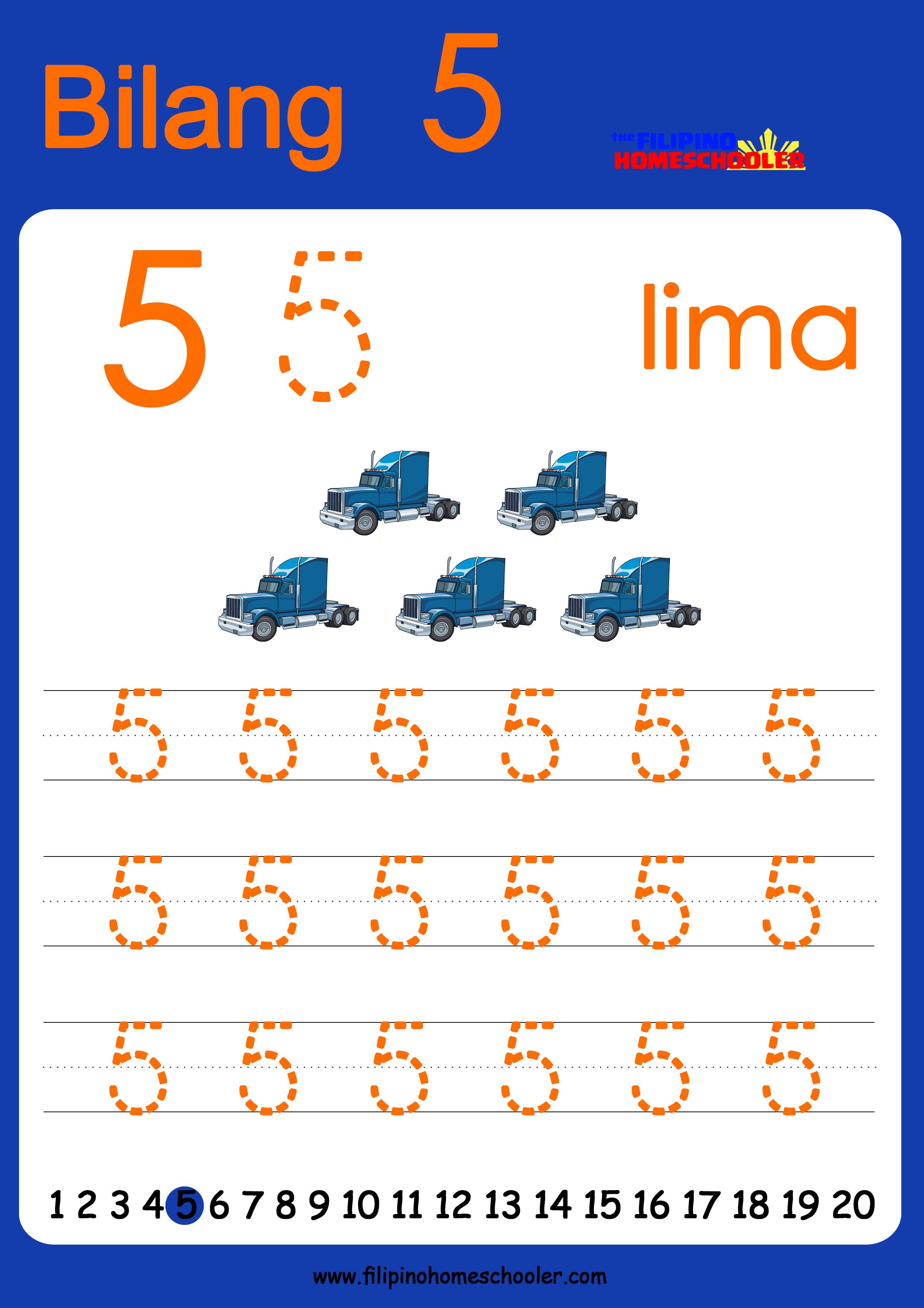 Free Filipino Numbers Worksheets From 1 10 With Images