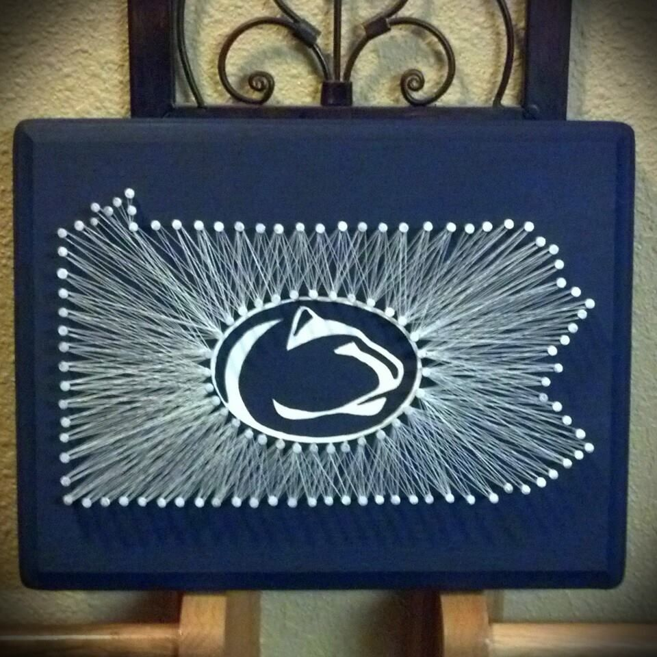 Nail Art Ideas state nail string art : Penn State String Art!! Visit my Etsy shop if you would like to ...