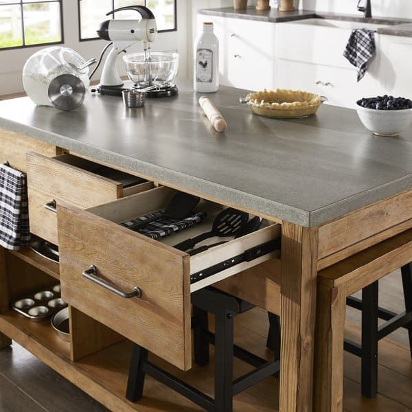 tali reclaimed wood extendable kitchen island by inspire q classic with images kitchen on kitchen island ideas cheap id=57492
