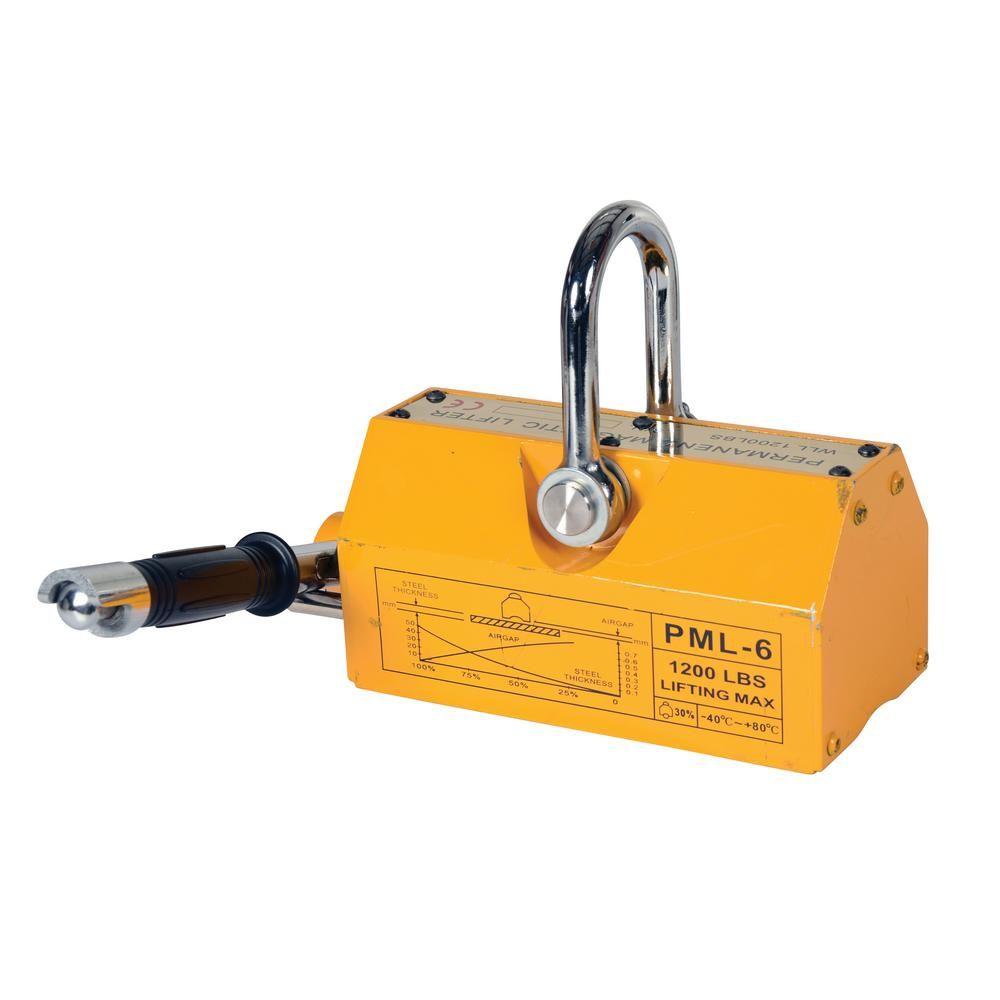 Vestil 1 200 Lb Capacity Magnetic Lifter Magnets Working Area