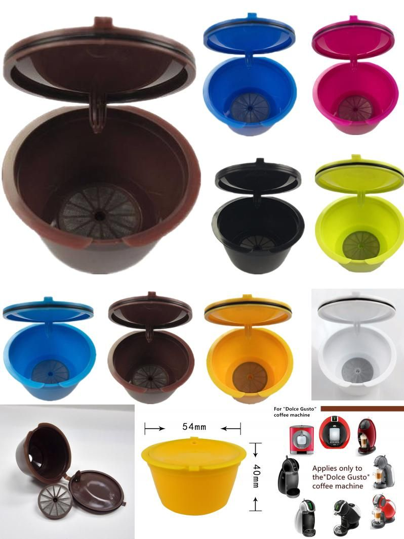 Visit To Buy 1pcs Reusable Empty Dolce Gusto Coffee Capsule