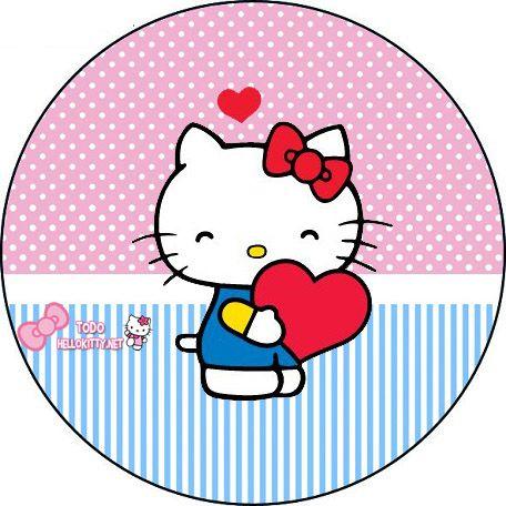Etiquetas de Hello Kitty Toppers para cupcakes  papeles