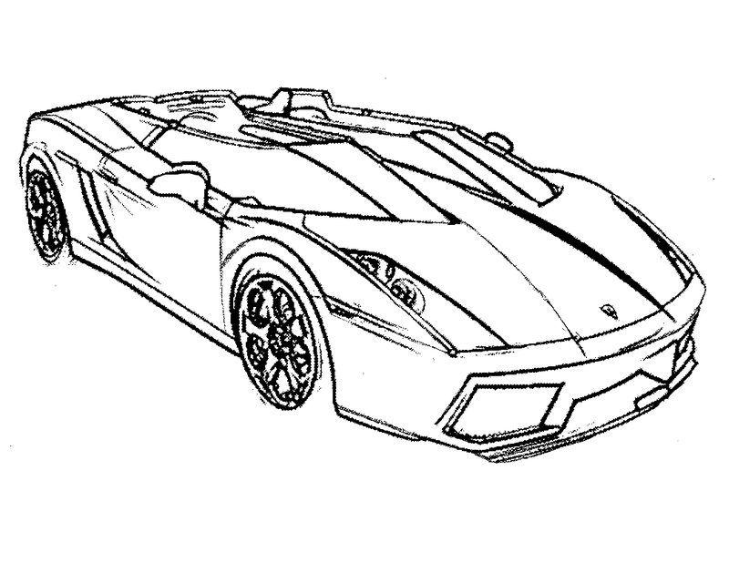 Race Car Printable Coloring Pages Gambar