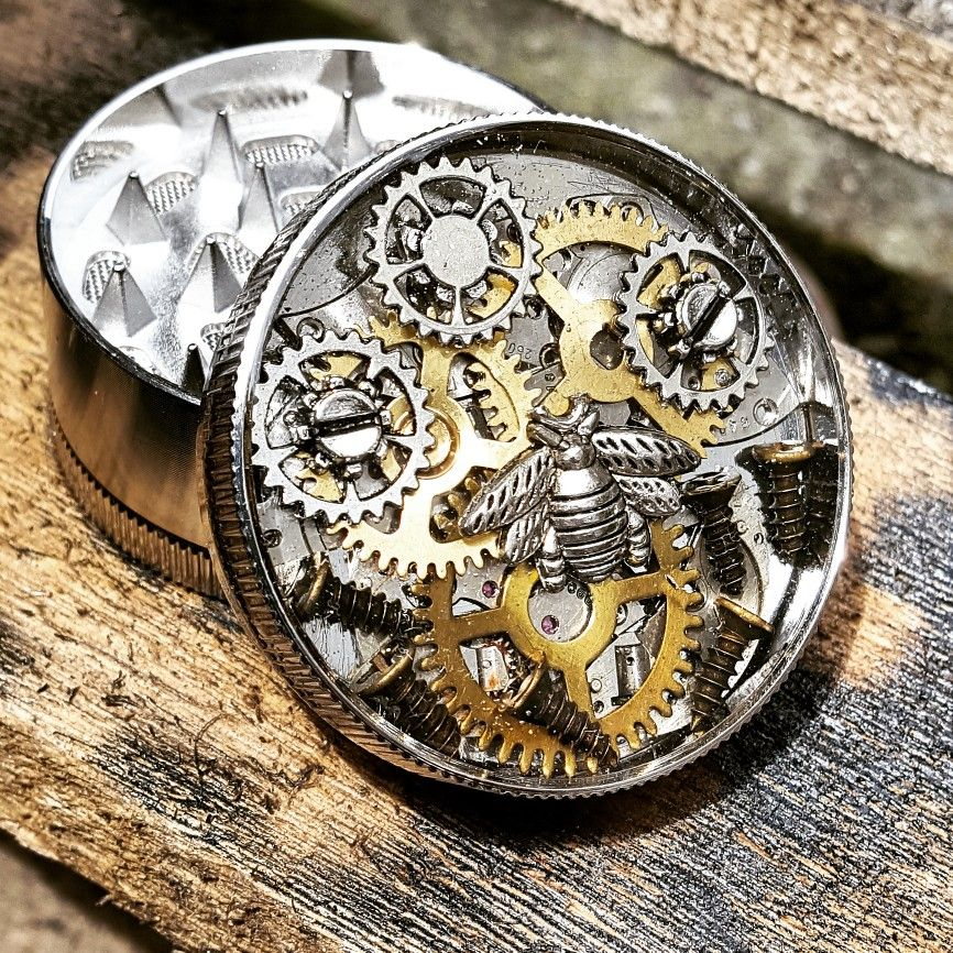 Bumblebee Herb Grinder In Steampunk Style Steampunk Fashion Steampunk Jewelry Herb Grinder