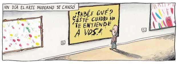 Sabes Que Este Cuadro No Te Entiende A Vos Liniers Macanudo Humor Grafico