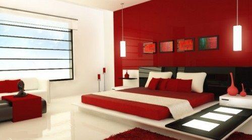 Como Pintar Mi Casa Moderna Diseno De Interiores Red Bedroom Design Red Bedroom Decor Elegant Bedroom Design