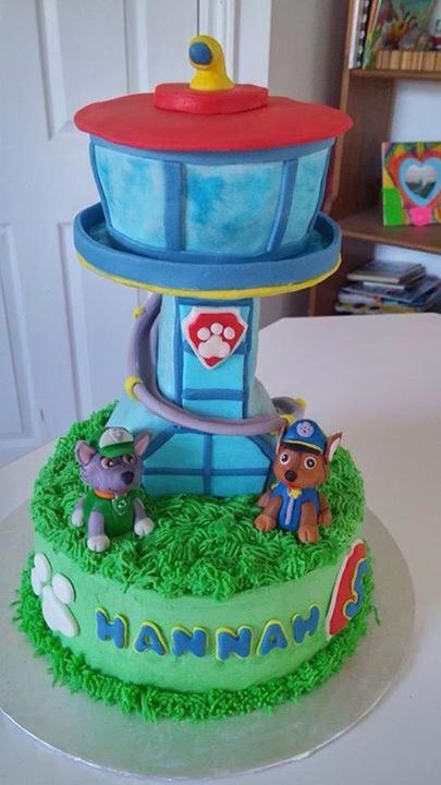 Paw Patrol Cake Chase And Rocky Birthday Ideas Paw