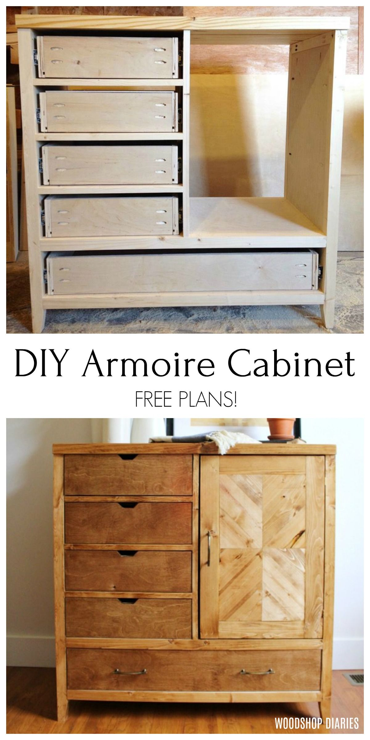 How To Build A Modern Diy Dresser Armoire Diy Dresser Plans Armoire Furniture Plans Diy Dresser [ 2400 x 1200 Pixel ]