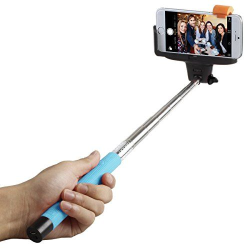 Selfie Stick, Flexion™ QuickSnap Pro 3-In-1 Self-portrait Monopod Extendable Wireless Bluetooth Selfie Stick with built-in Bluetooth Remote Shutter With Adjustable Phone Holder for iPhone 6, iPhone 6 Plus, iPhone 5 5s 5c, Android (Blue) Flexion http://www.amazon.com/dp/B00WLL24B4/ref=cm_sw_r_pi_dp_B6ywvb1T0QXRQ