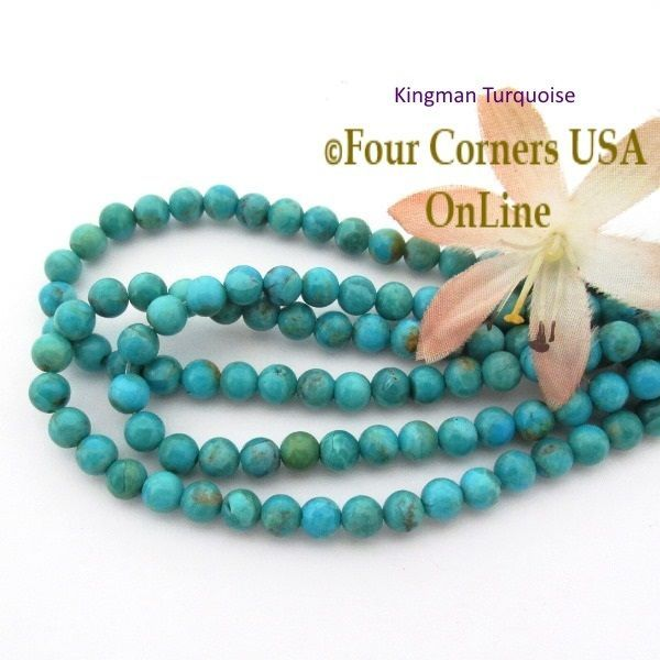 inch beads online turquoise four corners rondelle tq making supplies pin strand jewelry kingman beading blue usa old