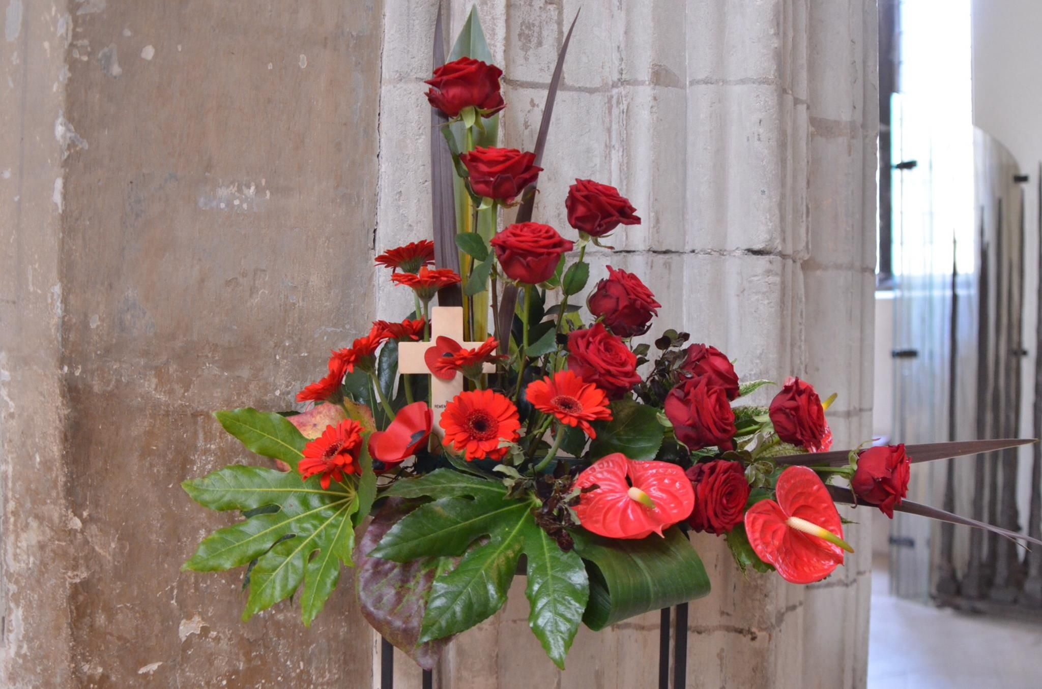 Poppy Floral Display (With images)   Church flowers