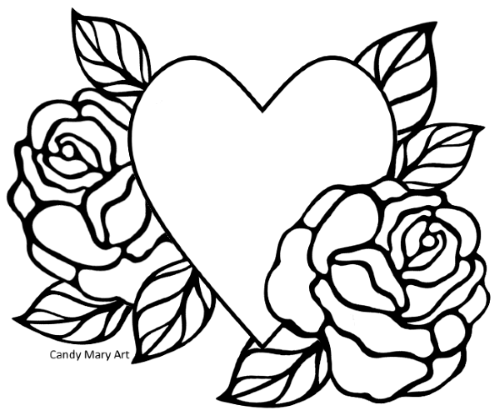 Coloriage Coeur Gratuit.Coloriage Coeur Gratuit A Telecharger Sur Candy Mary Com C Marie