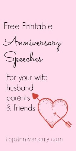 Free Anniversary Speeches For You To Print Personalize Anniversary Words 50th Anniversary Speech 25th Wedding Anniversary Quotes