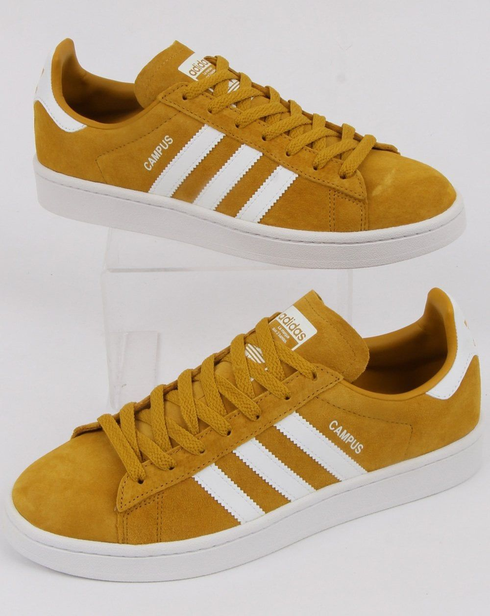 887c84bf59694 Brighten up your outfit with these Ochre White Adidas Campus - they come  with the