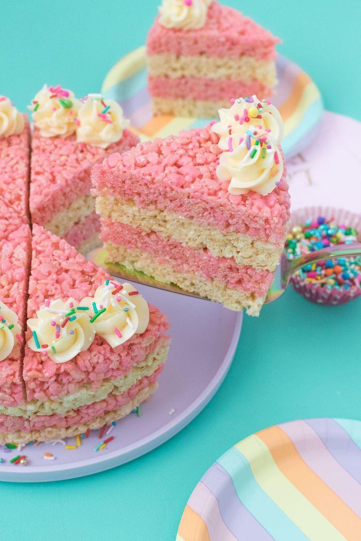 Cake slice rice krispies treats rice krispie treats cake