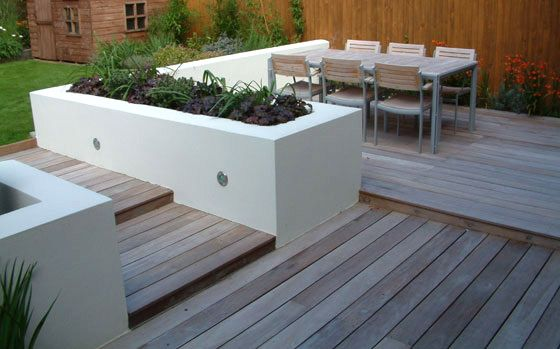 Garden Design Decking Ideas mark langford garden design, contemporary family garden hardwood