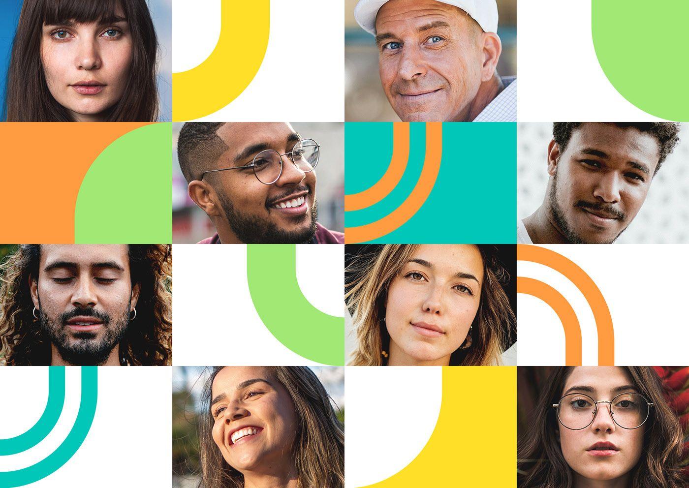 Grafismo com Imagem HumansApp in 2020 Social media