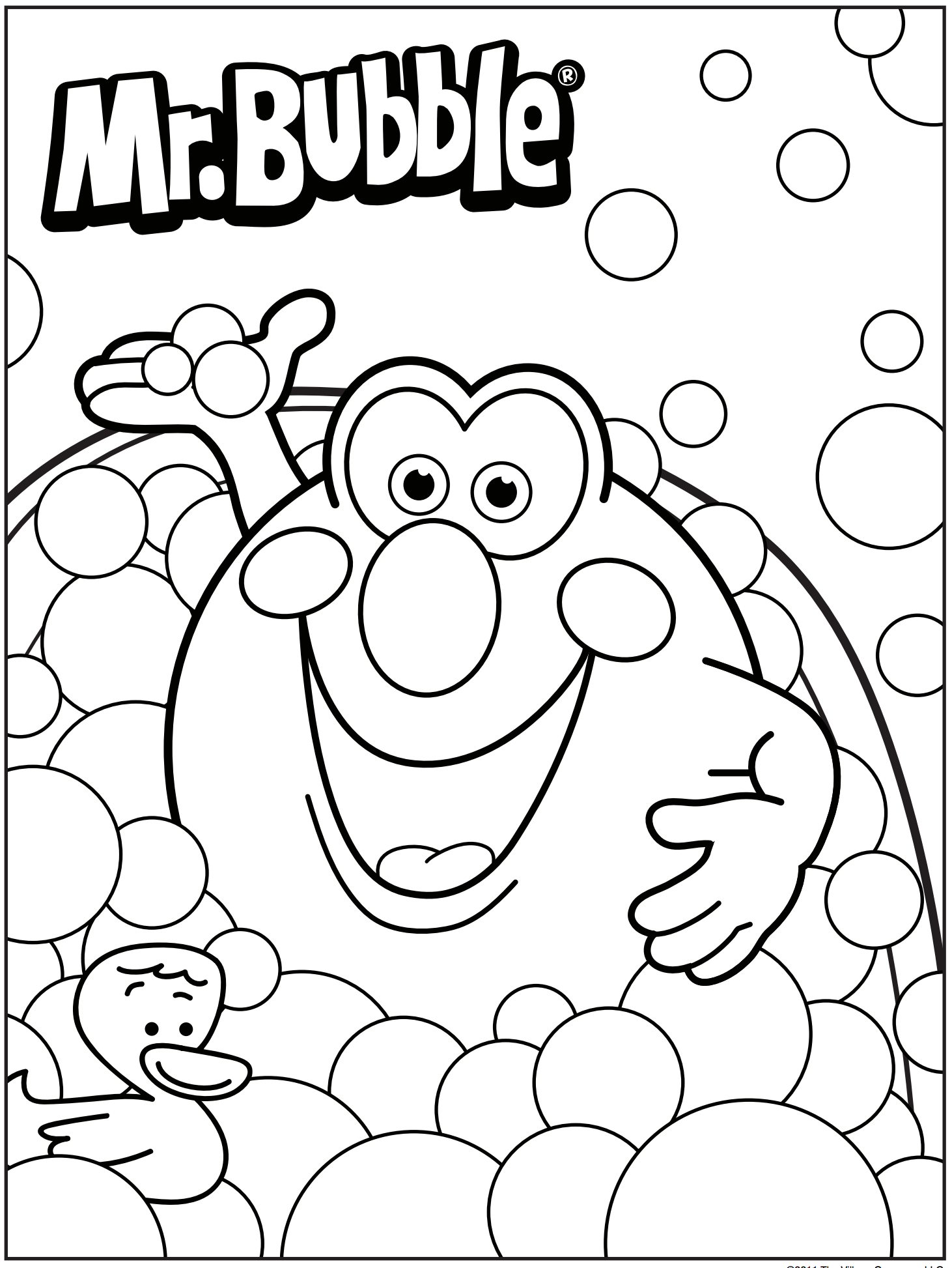 Bath Time 3D Coloring Pages Coloring pages Kids