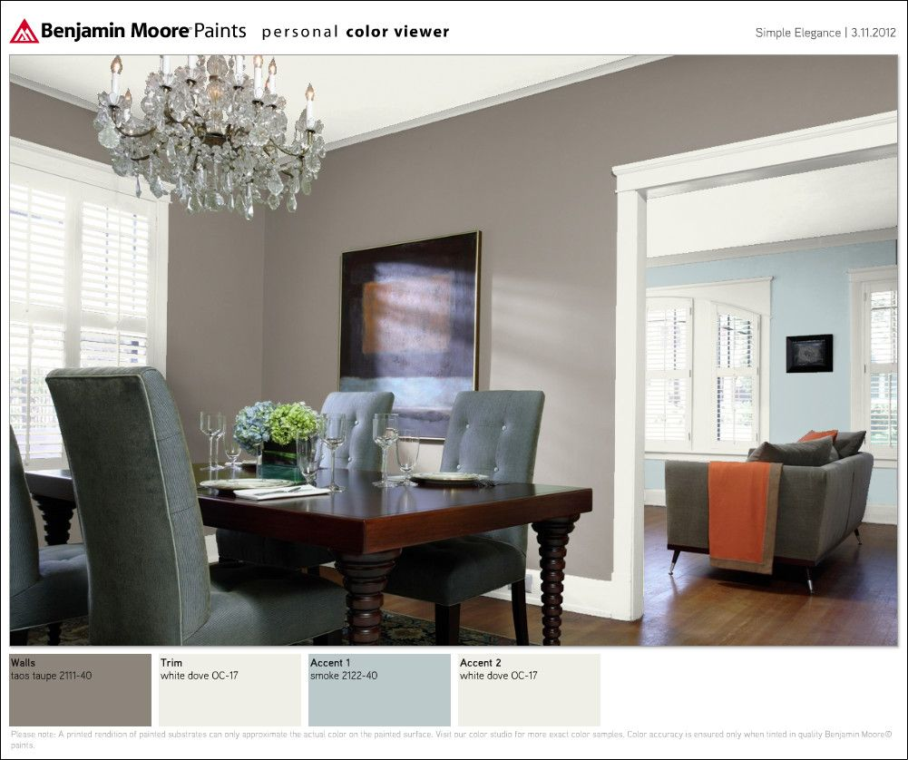 Dining Room Colors, Taupe Living