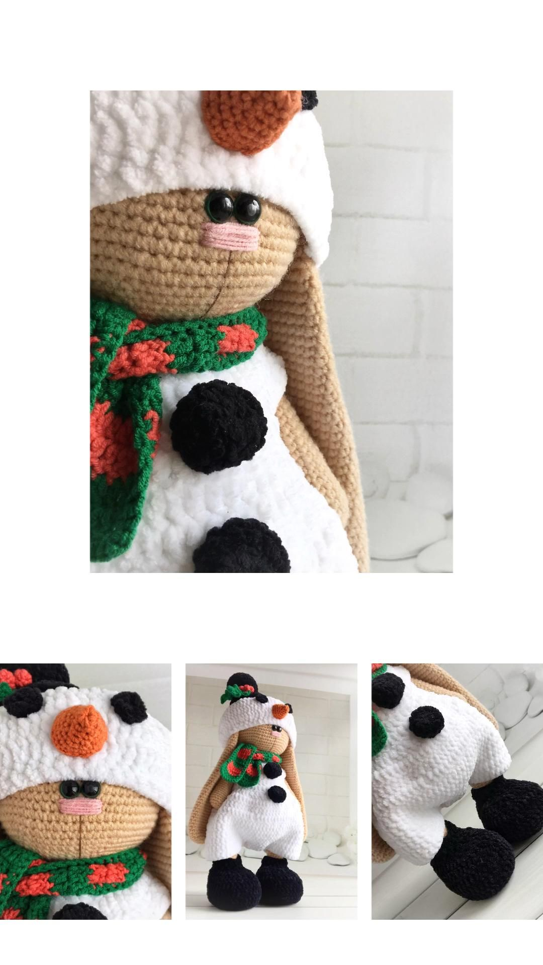 Crochet pattern christmas outfit for toys. Amiguru