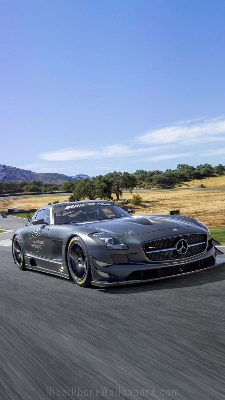 Mercedesbenz Sls Amg Gt Front Angle View Photo Hd Wallpaper