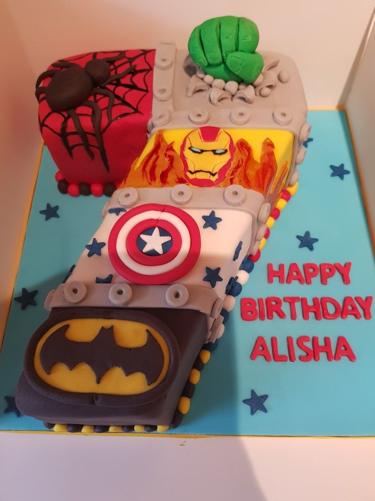Avengers Number 7 Birthday Cake My Home Made Creations
