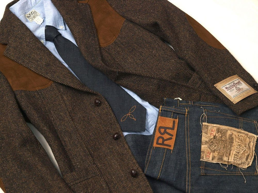 Details about POLO RALPH LAUREN DOUBLE RL RRL HARRIS TWEED WOOL ...
