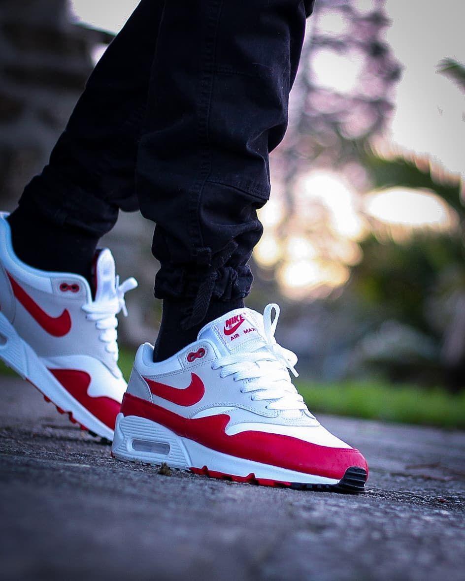 Ma2tjaw On Instagram Nike Air Max 90 1 Og Red Crepecity Crepprotect Nike Lsdls Airmaxone Airmax1 A Nike Air Max Sneakers Men Fashion Nike Air