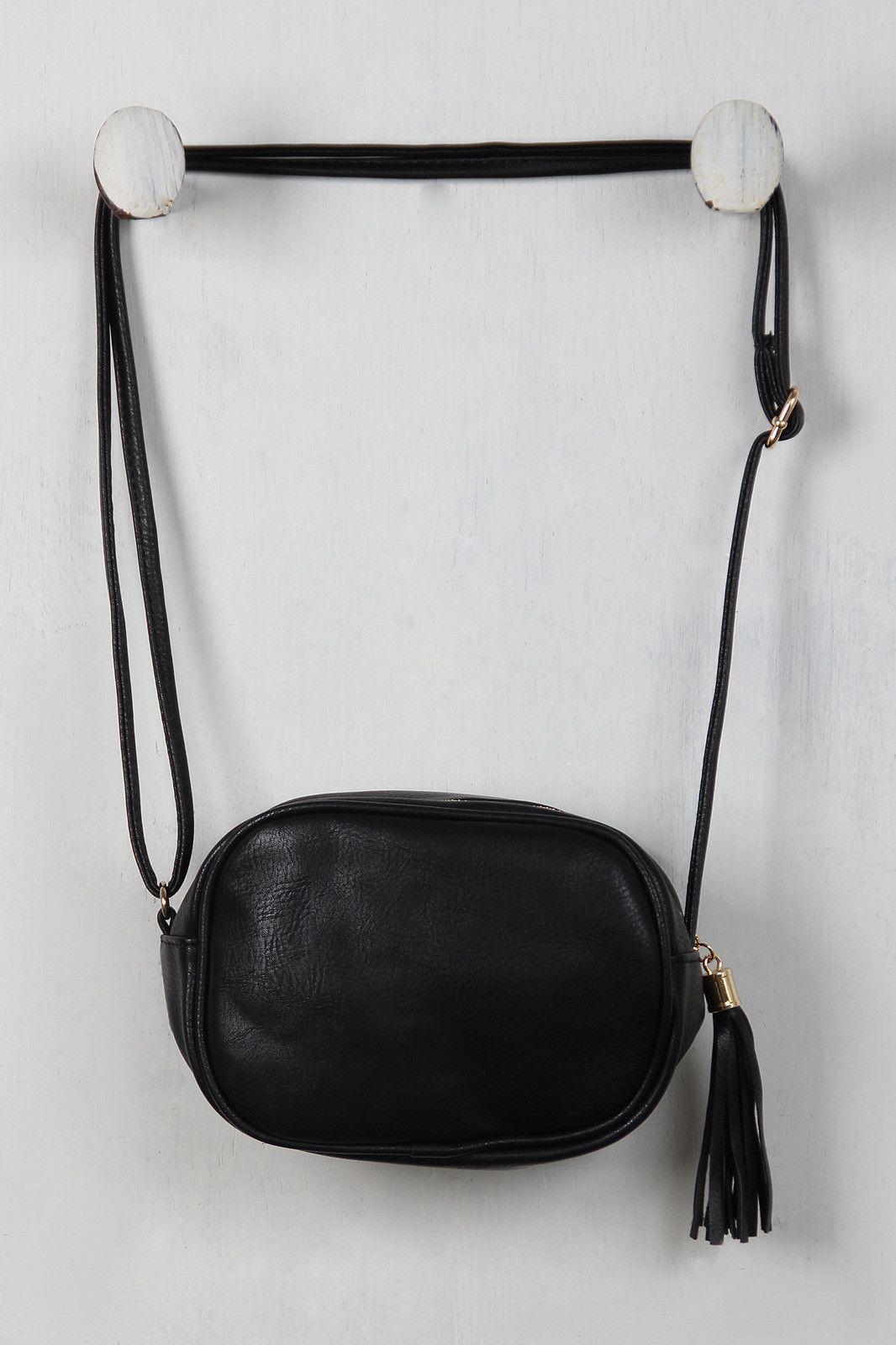 Oval Vegan Leather Mini Bag