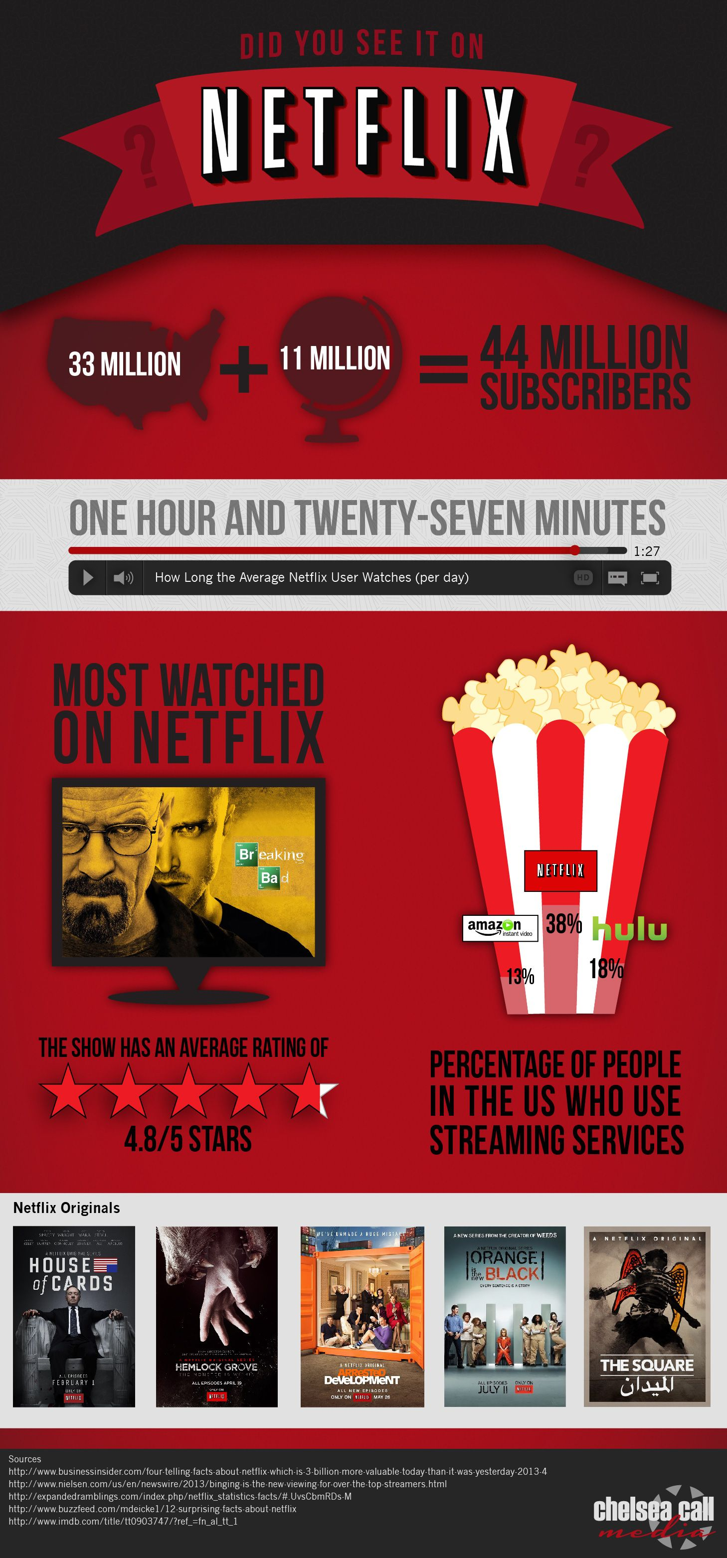 Netflix infographic by chelsea call media infografica
