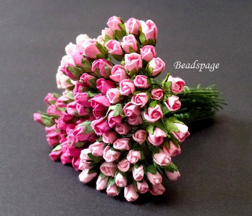 3 Dollhouse Miniature Handmade Clay Red Rose Flowers Bouquet Home Decor 1:12