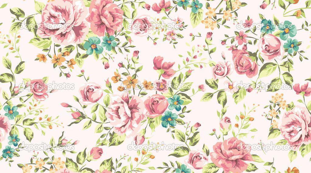 Papel Pintado Clasico Inconsutil Flor Vintage Vector De Fondo Classic Wallpaper Wallpapers Vintage Retro Fabric Prints