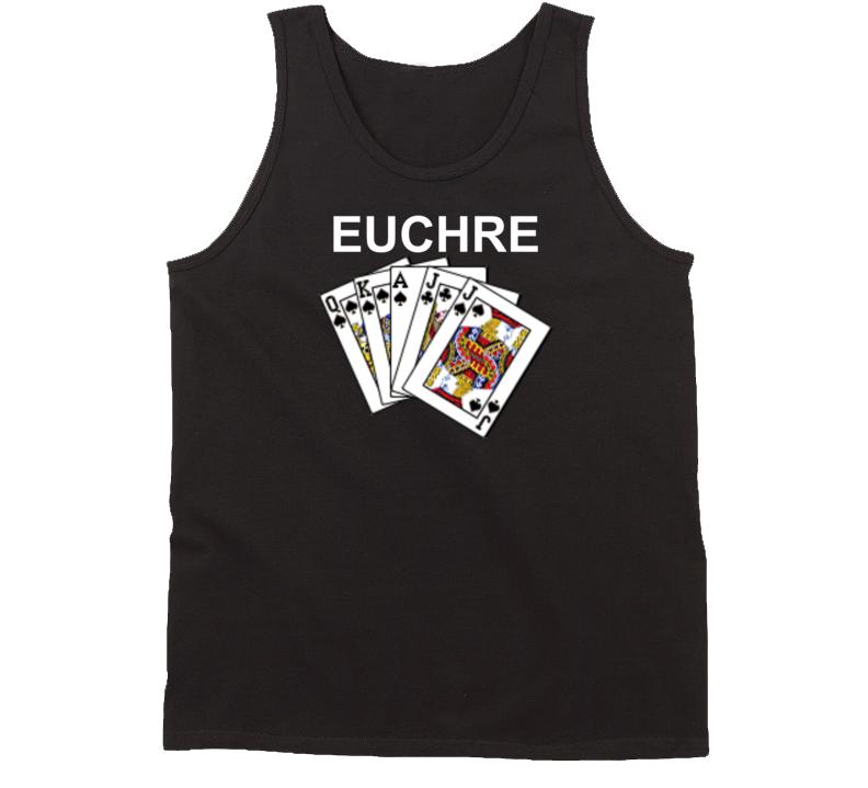 Euchre Black Hand Card Game Fan T Shirt Tanktop Tank top