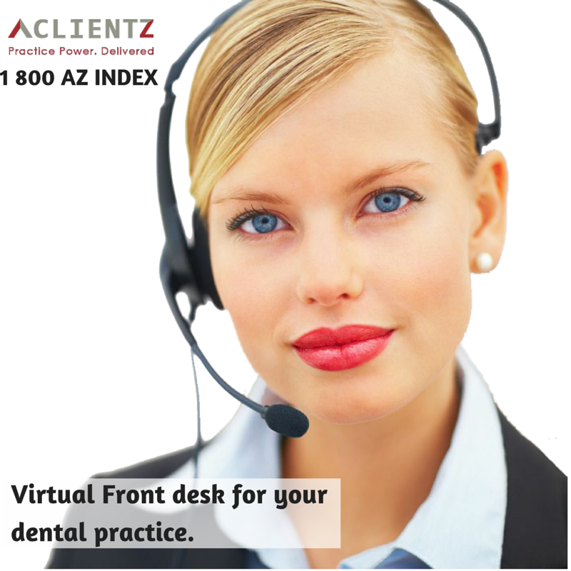 Virtual Front desk for your dental practice. Virtual Front