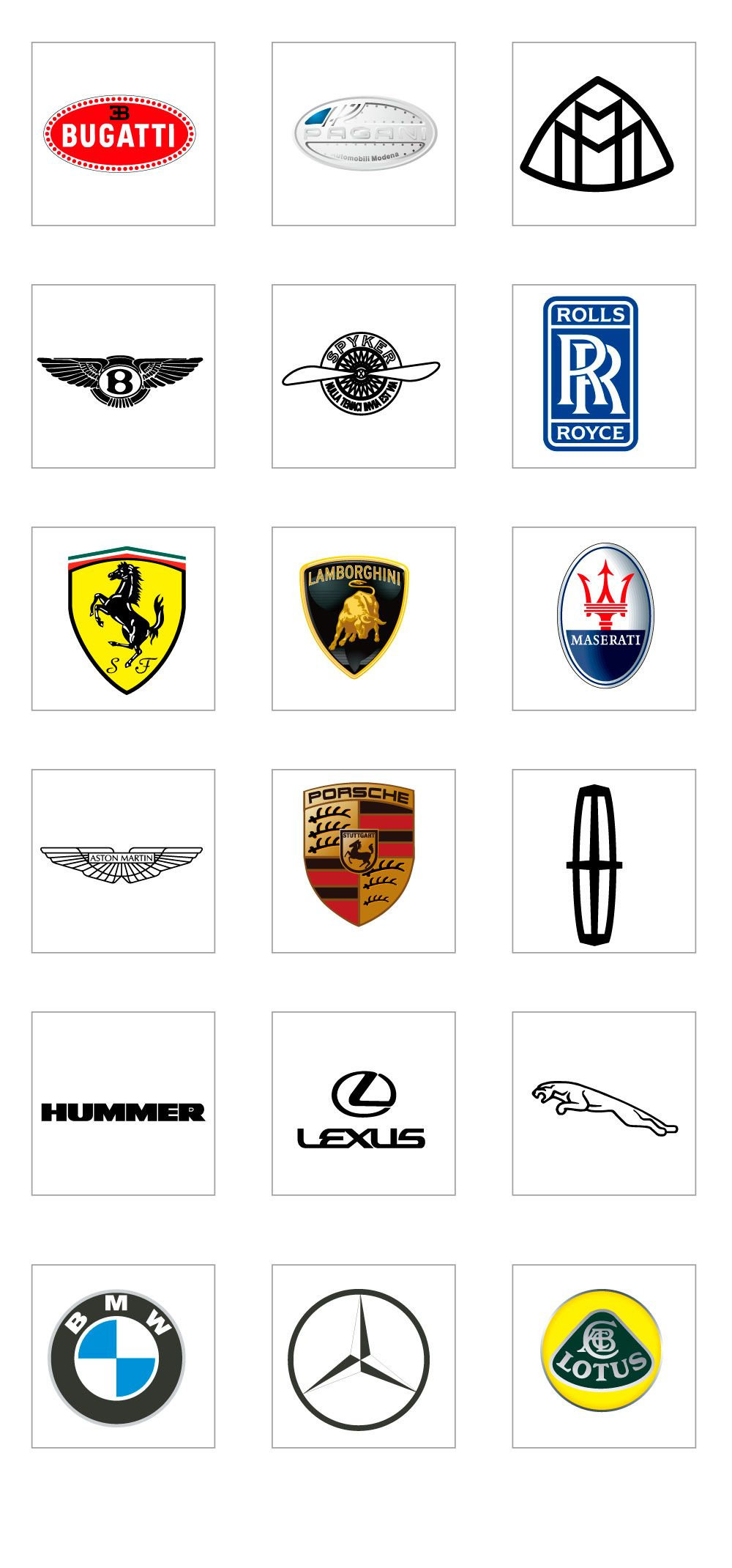 Luxury Car Logo AI in 2020 Luxury car logos, Car brands
