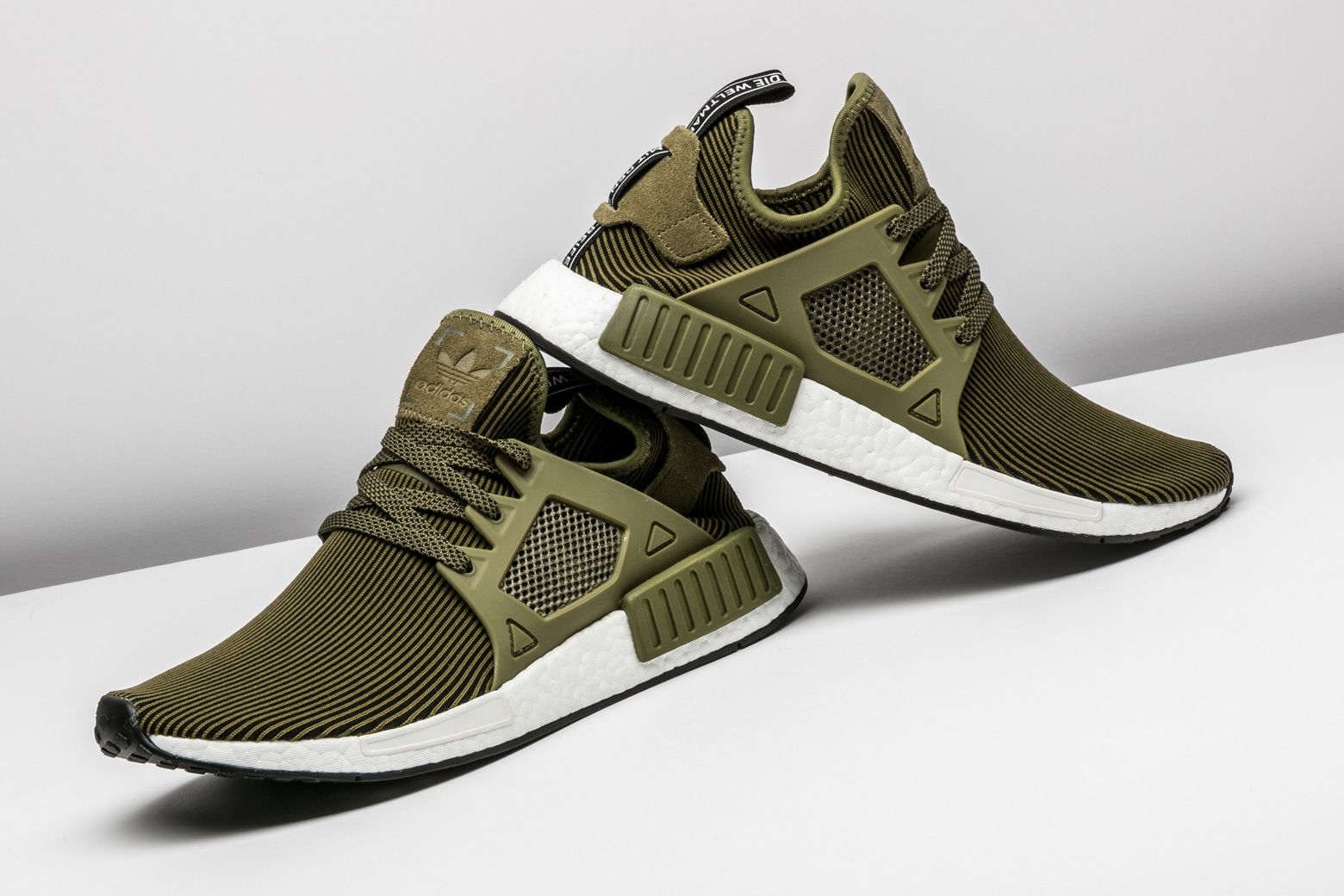 Adidas NMD XR1 Glitch Primeknit Grey White Brown Boost Shoes