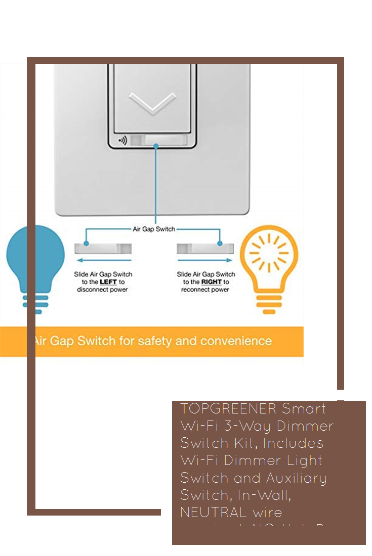 Topgreener Smart Wi Fi 3 Way Dimmer Switch Kit Includes Wi Fi Dimmer Light Switch And Auxiliary Switch In Wall Dimmer Switch Light Switch Dimmer Light Switch