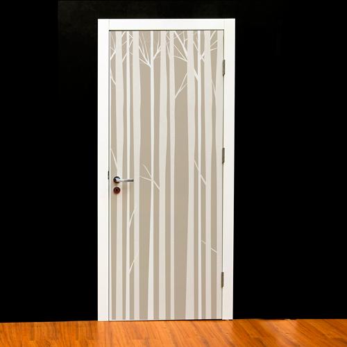 Textura de bosque para forrar una puerta de un dormitorio for Papel para forrar puertas