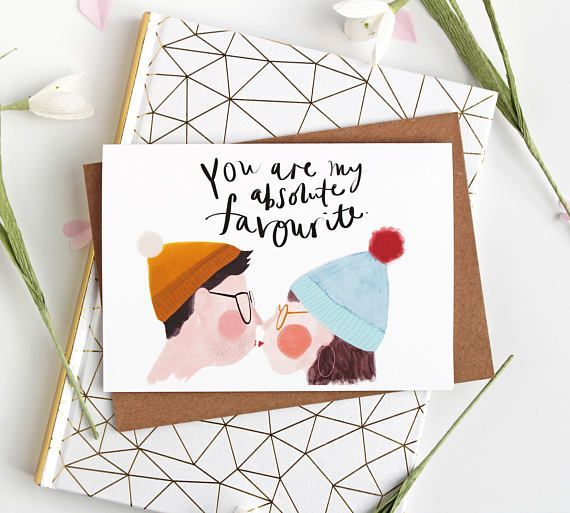 You are my favourite Quirky Love Card for Valentines Day