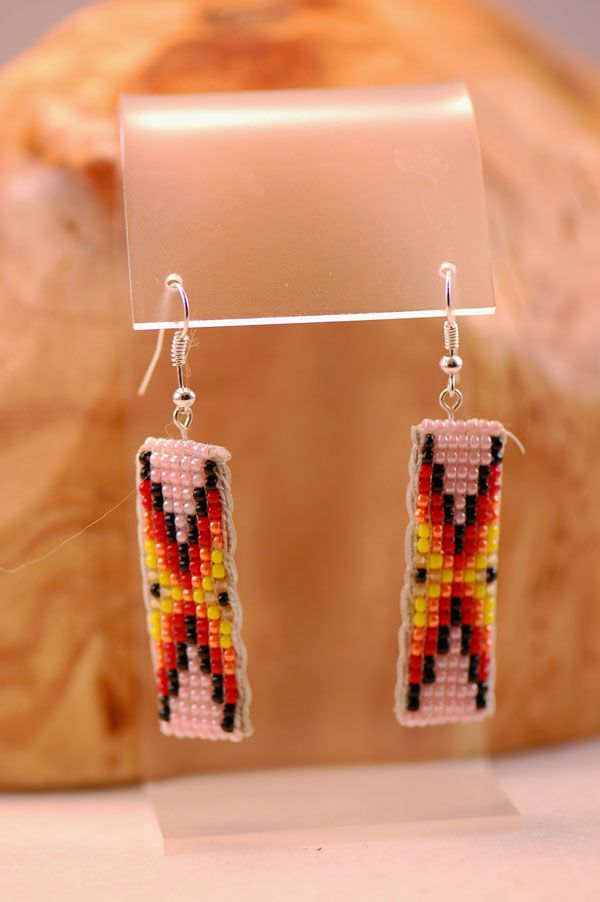 navajo u2013 traditional seed bead earrings by sylvia spencer