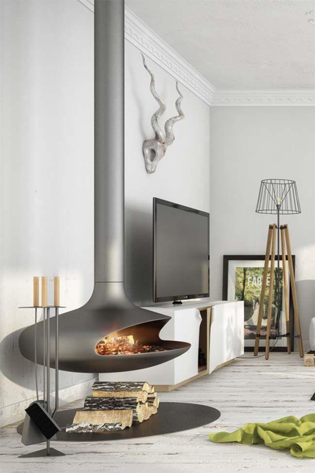 Interior Design Fireplace Living Room: Scandinavian Living Room By Milan Stevanovic