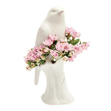 Chive Porcelain Bird, White