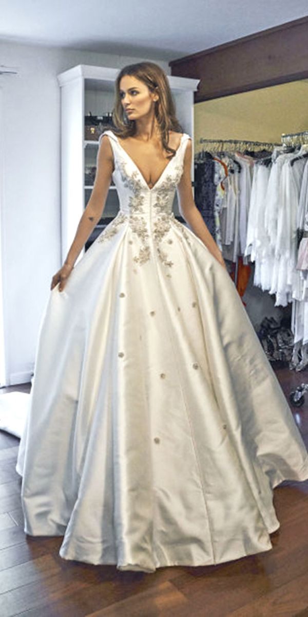 24 Disney Wedding Dresses For Fairy Tale Inspiration ❤ See more: http://www.weddingforward.com/disney-wedding-dresses/ #wedding #dresses #disney