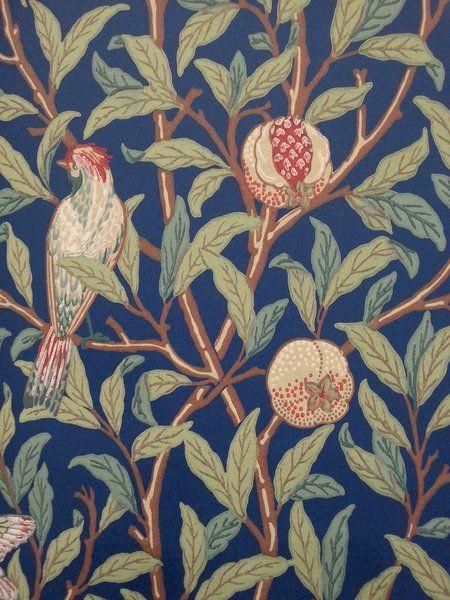 Bird & Pomegranate Blue/Sage 212540 - Seinäruusu - Verkkokauppa